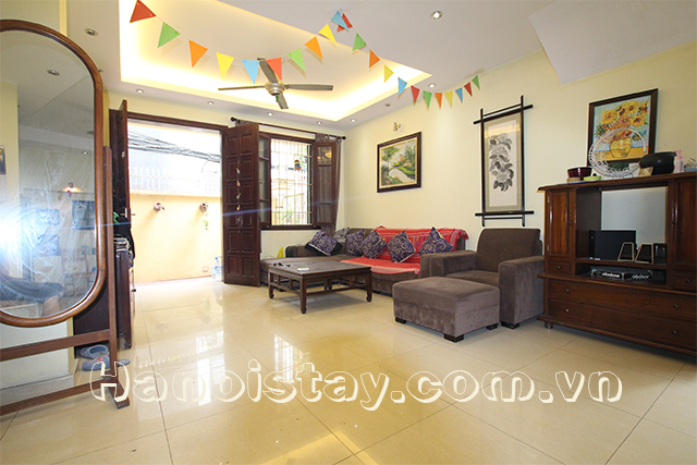Spacious and Bright Four Bedroom House For rent in Doi Can street, Ba Dinh 1